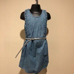 Joe Fresh Girls Denim Style Dress with Silver Belt